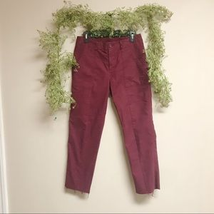 Red old navy cropped pants